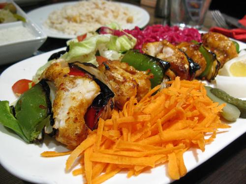 Monkfish kebab