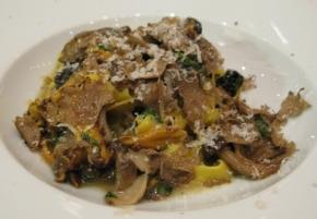 Wild Mushroom and Black Truffle Fettucini