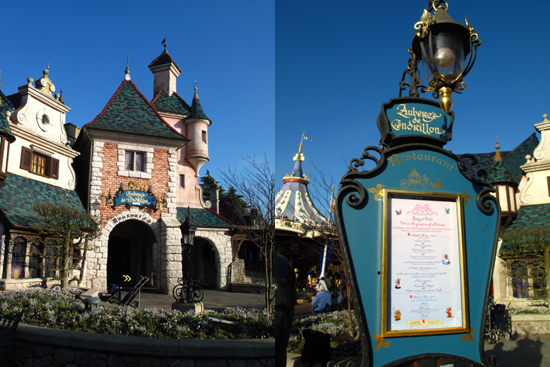 L'Auberge de Cendrillon, themed around the story of Cinderella was our first