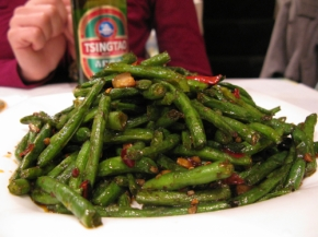 Fried French Beans w Szechuan pepper and Mince Pork