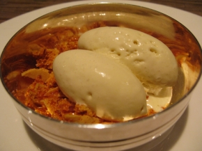 Wild Honey ice-cream with honeycomb