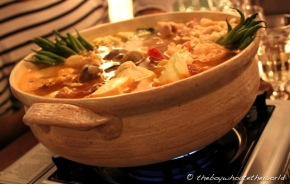Spicy Pork and Seafood Nabe