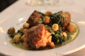 Swaledale Pork Meatball with chickpea and cavolo nero