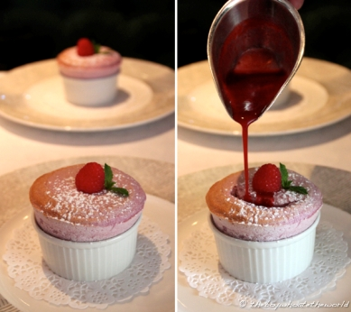 Warm Raspberry Souffle - The Waterside Inn, Bray