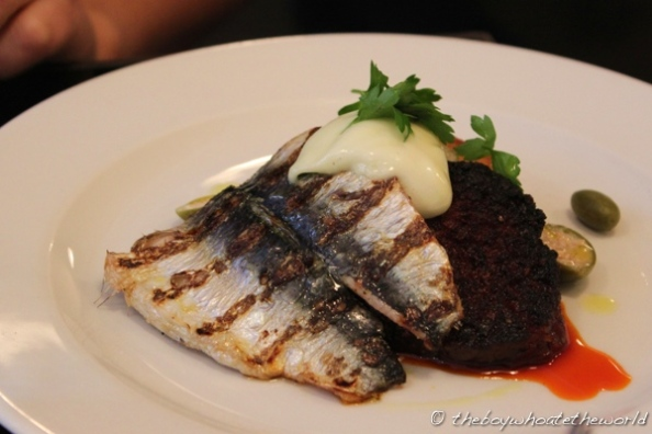 10 Greek St - Grilled Sardine with Sobrasada