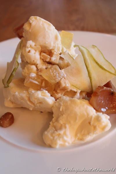 Corner Room - Apple Hazelnut frozen Pannacotta