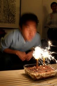 Flaming Birthday Tiramisu