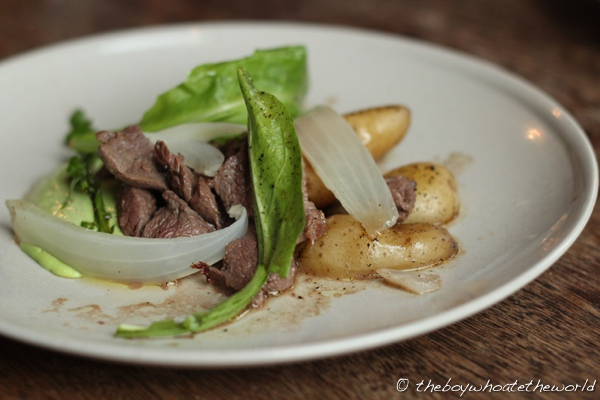 Sauteed Venison with La Ratte Potatoes and Wild Gar
