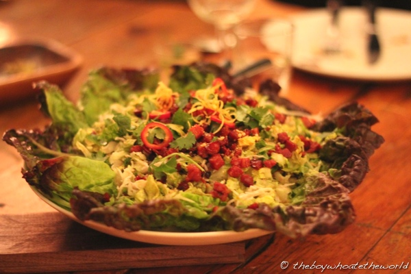 Cambodian inspired Chorizo and Celeriac salad