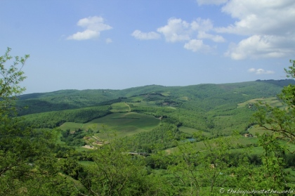 Chianti - view from the top at Radda