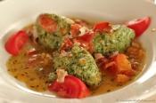 Macereto - Gnudi Pasta with tomato and speck sauce