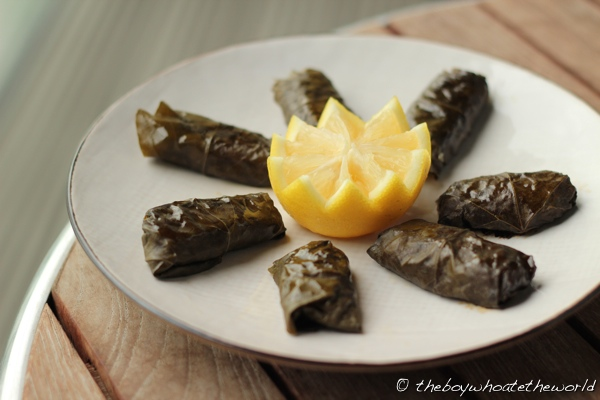 Dolmades - Stuffed Vine leaves