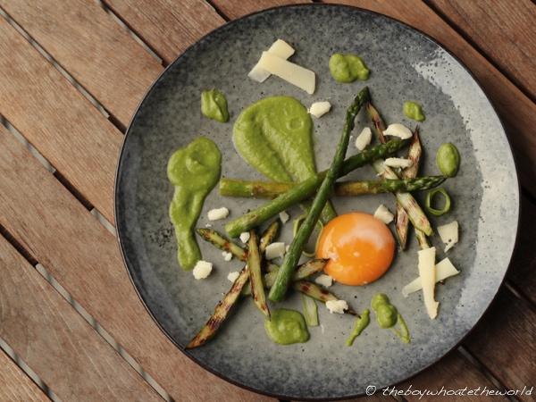 65C Egg with British Asparagus & Pea Puree 2