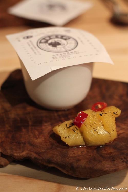 Chilli BBQ Pineapple with Beijing street yoghurt