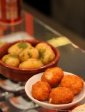 Croquetas de Jamon and Papas Arrugadas (Wrinkled Potatoes)