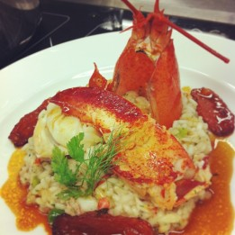 Lobster Risotto with Fennel and Tomatoes