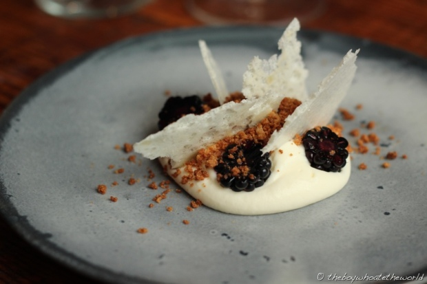Blackberry and Ewes Milk Mousse