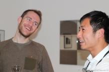 Simon & Jin sharing a chuckle...