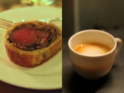 Beef Wellington & Lobster Bisque Cappucino