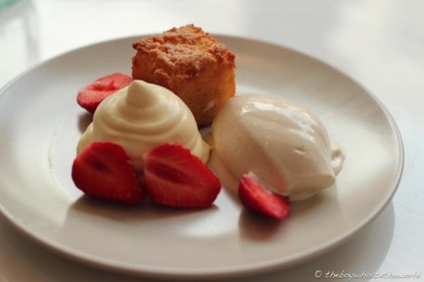 Lemon curd Almond Cake Pepper Ice cream