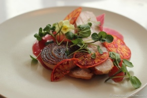 Pork Blood Orange Grapefruit Watercress