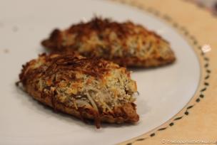 Txalupa (Puff pastry 'boat' of mushrooms, prawns, cream & cheese gratin)