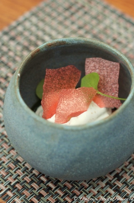 L Enclume - Rhubarb Apple Sorrel Brown butter