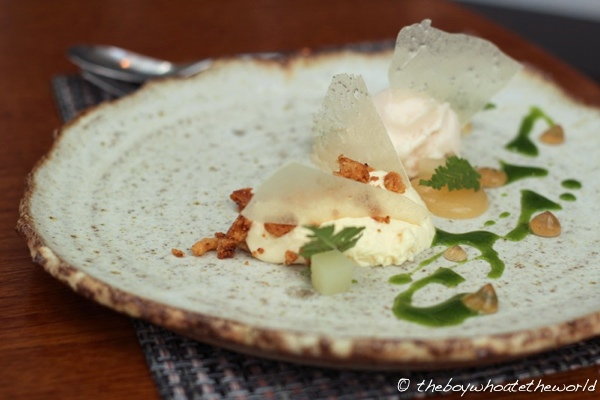 L Enclume - Yoghurt Pear Walnuts and Cicely
