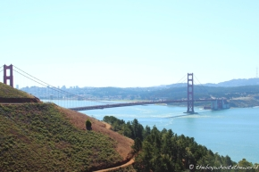 View of the Golden Gate Bridge from Marin Headlands
