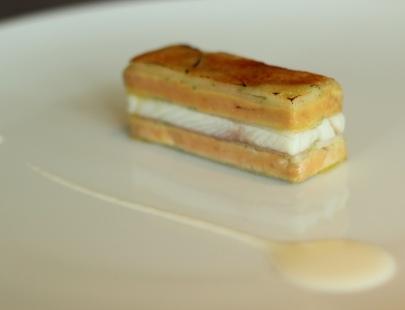 Mille-feuille of Smoked Eel, Foie Gras & Green Apple - Martin Berasategui, San Sebastian