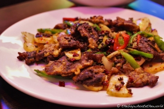 Fried Stewed Beef Brisket with Green Peppers