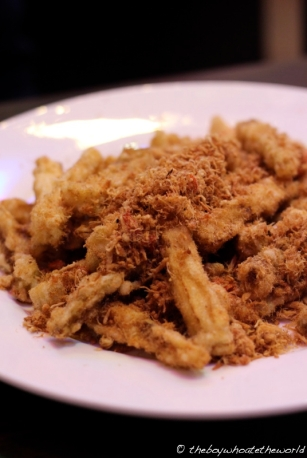 Deep-fried Brinjal with Pork floss
