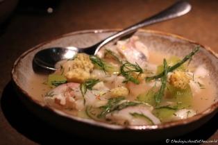 Scallop & Sea Bream Ceviche with Cucumber & Dill