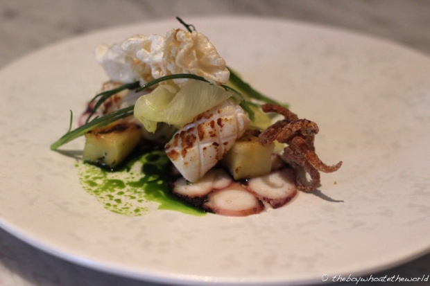 Octopus Pineapple Beef Tendon Basil