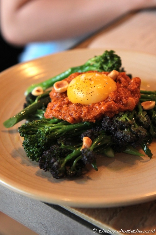 Copita Mercado - Sprouting Brocolli Duck Egg Romesco