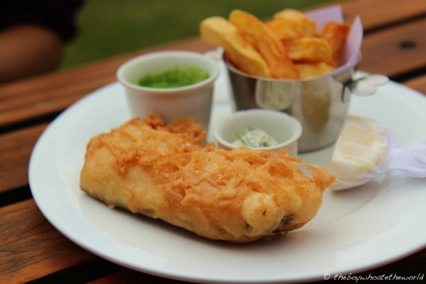 FIsh & Chips, Crushed Peas & Tartare Sauce