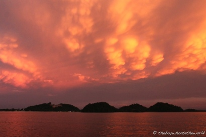 Stunning skies over the Salak river