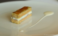 Smoked Eel Millefeuille, Foie Gras, Spring Onions & Green Apple