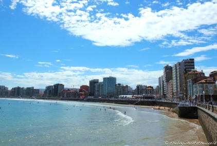 Gijon's City beach