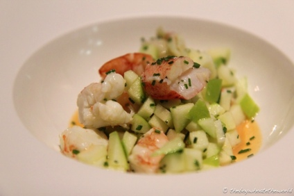 Lobster, Langoustine & Apple salad
