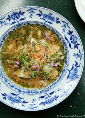 Pig's Trotter, Cuttlefish & Coriander - Taberna do Mercado, London