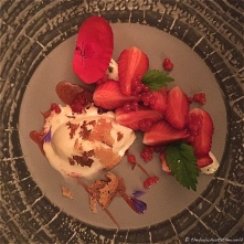 Gariguette Strawberries, orange blossom & cream