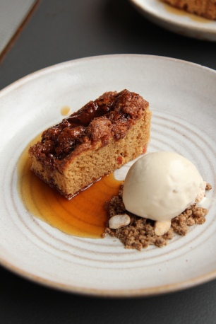 Red eye cake, Root beer ice cream, maple syrup & coffee