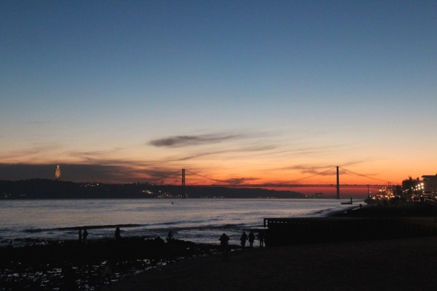 Sunset over Rio Tejo