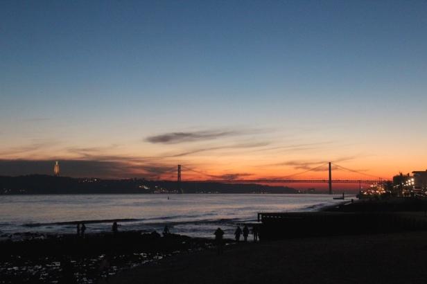 Sunset over Rio Tejo