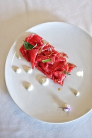 Veal Carpaccio with Coffee Cumin & Ginger - Villa Maiella