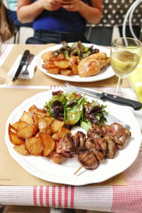 Grilled Duck Hearts - La Loge du Grain Albi