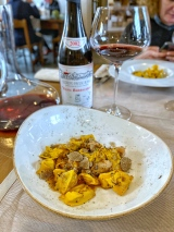 Rabbit Ravioli, Veal Sweetbreads and Black Truffle - Ostreria Fratelli Pavesi