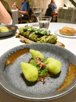 Senia Rice with Seaweed Nettle Emulsion and Baby Squid - El Poblet